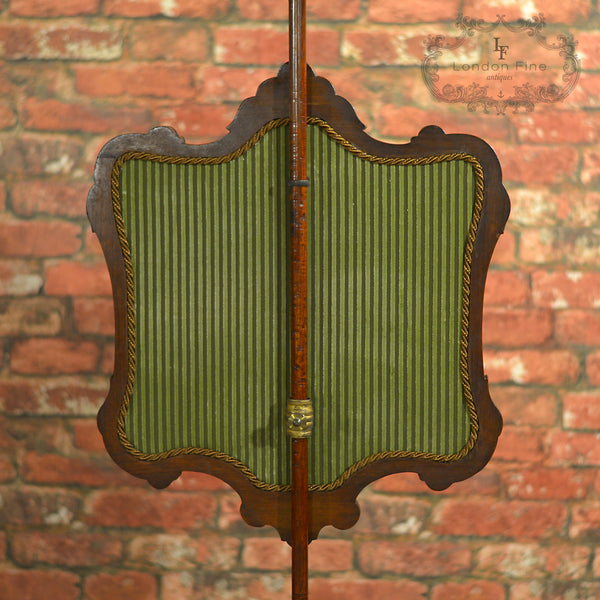 Victorian Pole Screen - London Fine Antiques - 2