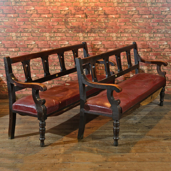 Victorian Pair of Snooker Benches, c.1880 - London Fine Antiques - 1