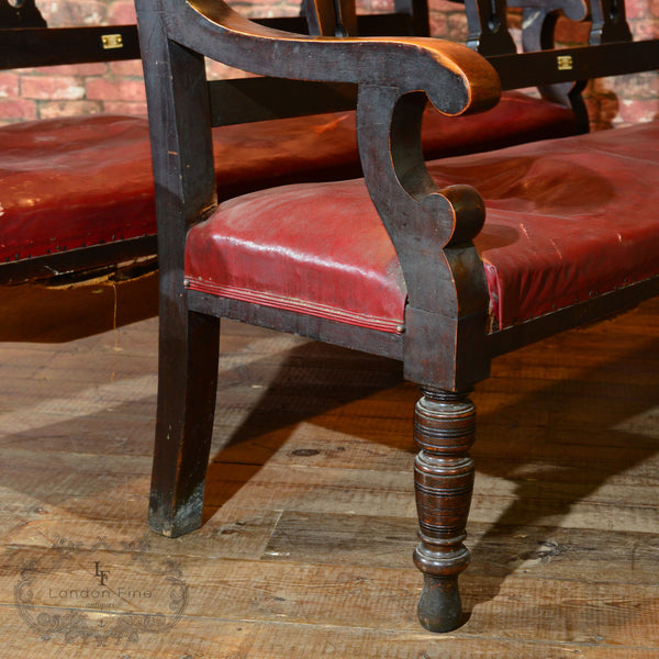 Victorian Pair of Snooker Benches, c.1880 - London Fine Antiques - 5