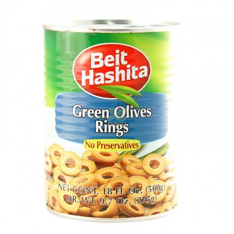 Beit Hashita Green Sliced Olives