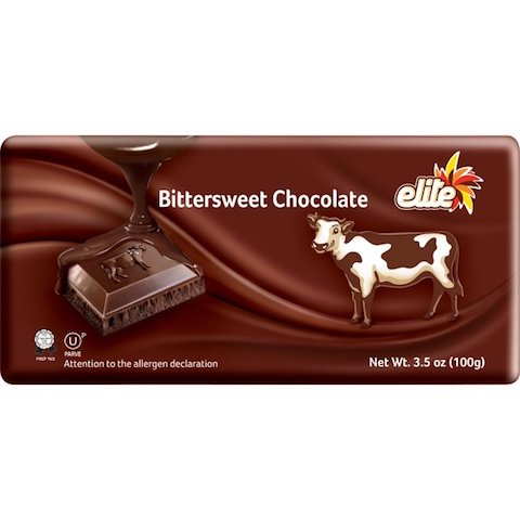 Elite Bittersweet Chocolate Bar - 3.5 OZ