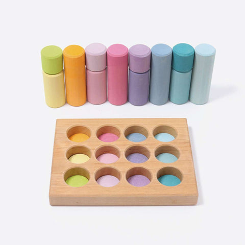 Stacking Game Small Pastel Rollers