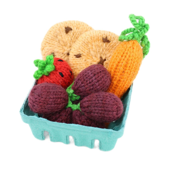 Knitted Set - Carrot, Strawberry, Grapes & Cookies
