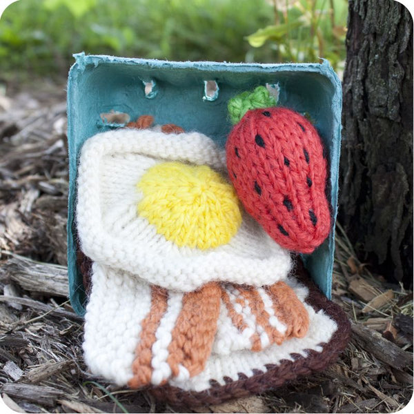 Knitted Breakfast Set: Toast, Egg, Bacon & Strawberry