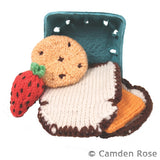 Knitted Cheese Sandwich, Strawberry & Chocolate Chip Cookie