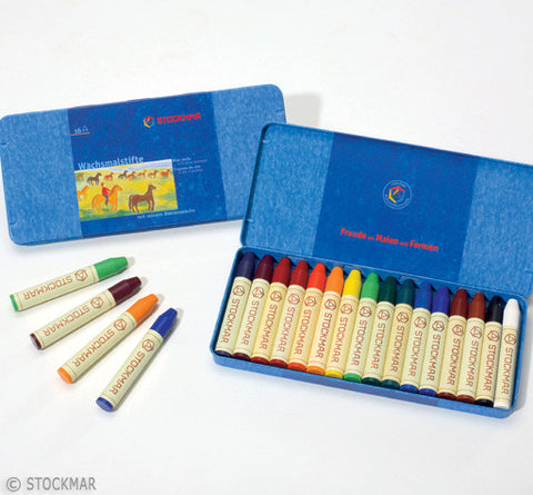 Stockmar Wax Crayons - 16 Colors @ 大樹孩子生活館             Tree Children's Lodge, Hong Kong - 1