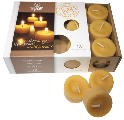 Dipam Beeswax Tealights (18 pieces)