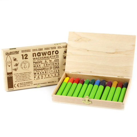 nawaro Beeswax Crayons - 12 colors