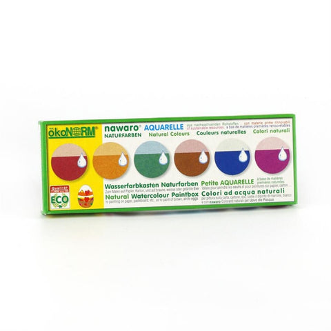 nawaro Natural Watercolor Paint Tablets - 6 colors