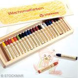Stockmar Wax Crayons - 24 Colors in wooden box