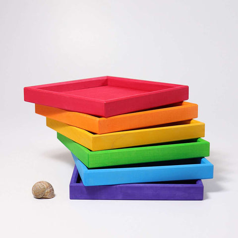 Wooden Rainbow Tray (6 colors)