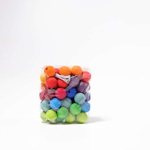 Colored Beads, 60 pcs