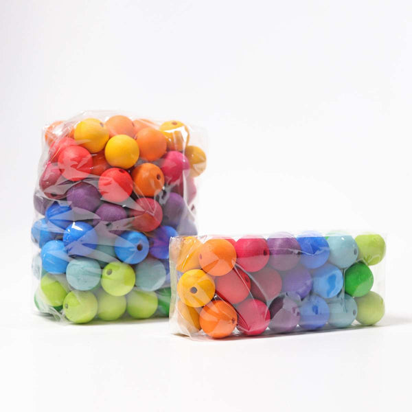 COLORED BEADS (LARGE SIZE), 36 PCS