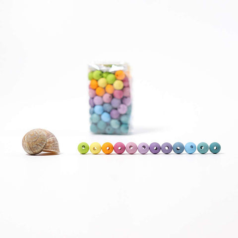 Colored Beads (Pastel), 120 pcs