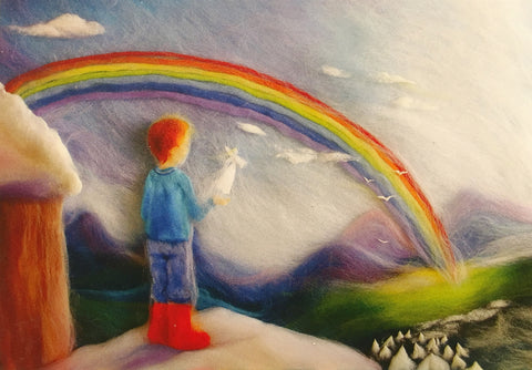 Célia Portail - Boy and Rainbow @ 大樹孩子生活館             Tree Children's Lodge, Hong Kong