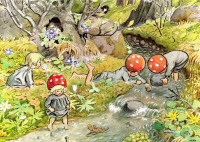 Elsa Beskow - Children Of The Forest In Summer @ 大樹孩子生活館             Tree Children's Lodge, Hong Kong