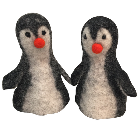 Penguin Felted Wool Toy