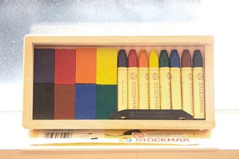 Stockmar Wax Crayons - 8 blocks + 8 crayons in wooden box @ 大樹孩子生活館             Tree Children's Lodge, Hong Kong - 1