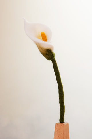 Felt Cala Lily @ 大樹孩子生活館             Tree Children's Lodge, Hong Kong