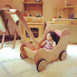 Doll Pram with Brake (Baby Walker)|洋娃娃手推車(可作步行器) @ 大樹孩子生活館             Tree Children's Lodge, Hong Kong - 4