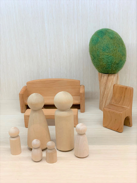 Wooden Peg People (various sizes)