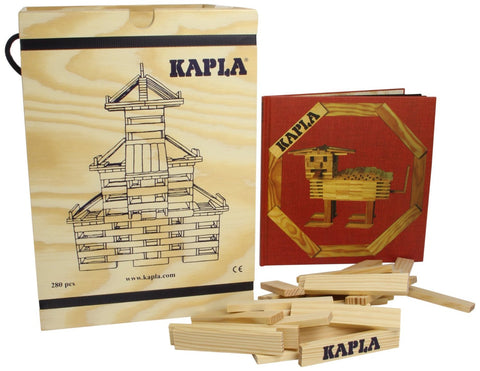 KAPLA Blocks - 280 pieces in wooden case with art book @ 大樹孩子生活館             Tree Children's Lodge, Hong Kong - 1