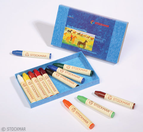 Stockmar Wax Crayons - 12 Colors @ 大樹孩子生活館             Tree Children's Lodge, Hong Kong