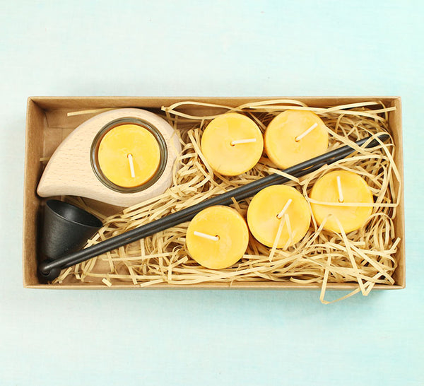 Dipam Beeswax Tealights (9-pieces gift set)