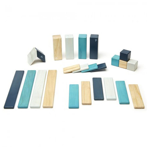 Tegu Magnetic Wooden Blocks (24-Piece Set) - Blue