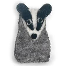 Woodland Animals Finger Puppets - Badger
