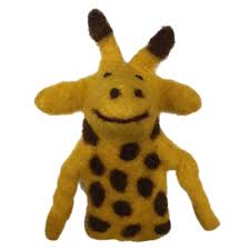 African Animal Finger Puppets - Giraffe