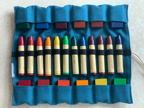 Stockmar Wax Crayons - 12 blocks + 12 crayons (Waldorf assortment)