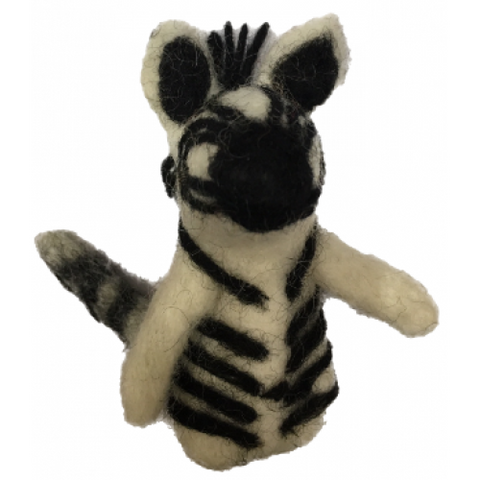 African Animal Finger Puppets - Zebra