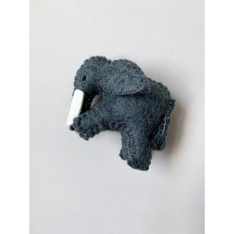 Baby Elephant Felted Wool Toy