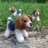 Mini Dog Felted Wool Toy