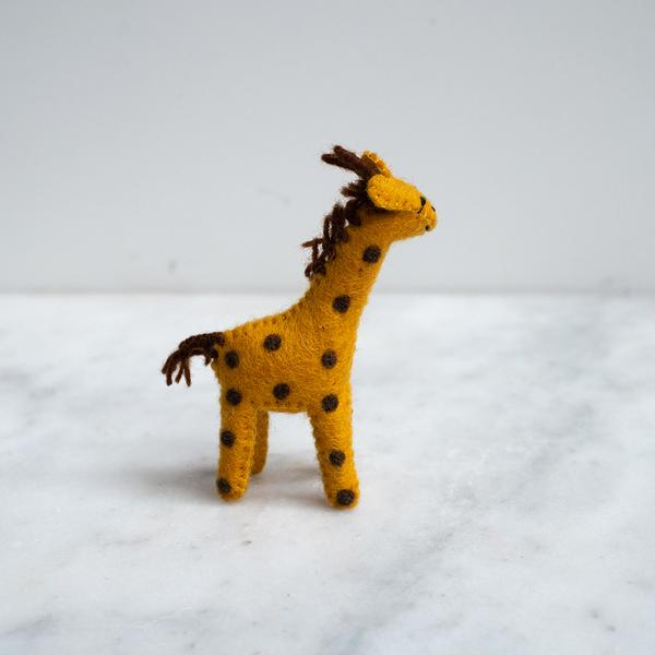 Baby Giraffe Felted Wool Toy