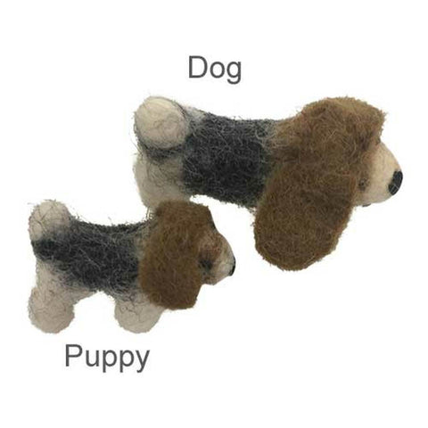 Puppy Felted Wool Toy