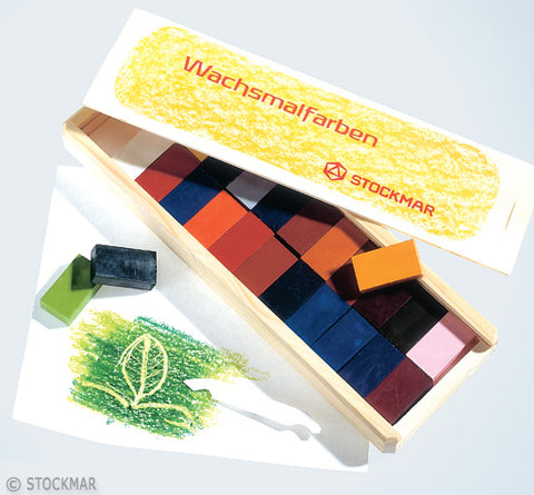 Stockmar Wax Blocks - 24 Colors in Wooden Box