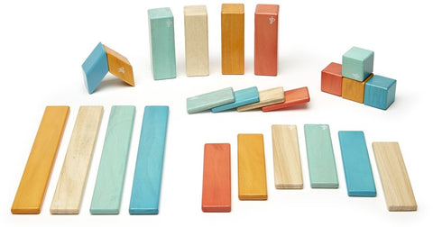 Tegu Magnetic Wooden Blocks (24-Piece Set) - Sunset