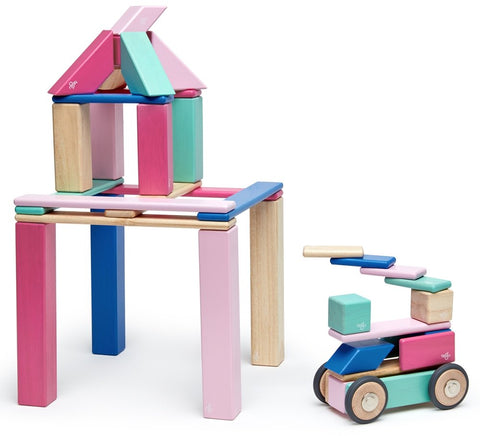 Tegu Magnetic Wooden Blocks (42-Piece Set) - Blossom