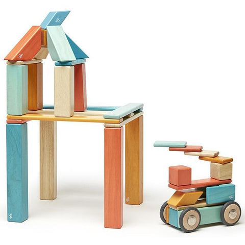 Tegu Magnetic Wooden Blocks (42-Piece Set) - Sunset