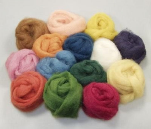 Wool rovings - 100g, assorted plant-dyed colors @ 大樹孩子生活館             Tree Children's Lodge, Hong Kong