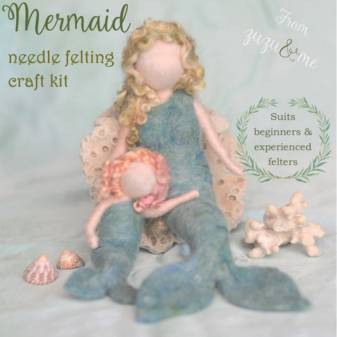 Mermaid Needle Felting Craft Kit