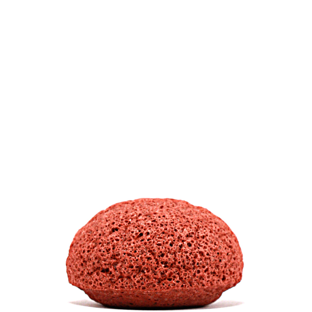 French Red Clay Konjac Facial Sponge Puff