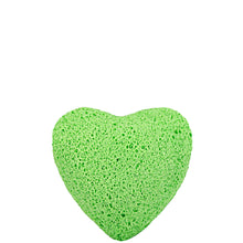 Load image into Gallery viewer, Green Tea Konjac Facial Sponge Heart