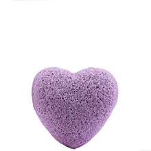 Load image into Gallery viewer, Lavender Konjac Facial Sponge Heart