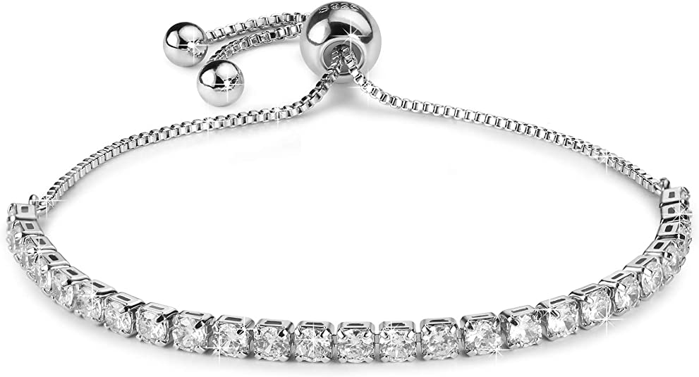 Tennis Bracelet 18k Gold plated Adjustable Length 3mm