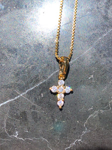 Micro Cross Necklace