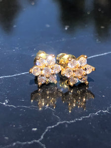 Flower Set Stud Cluster Earrings