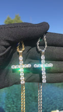 Load and play video in Gallery viewer, Iced Out Cross Pendant